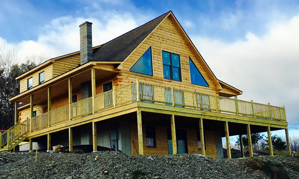 Stone Mountain Home Builders Log Homes near Albany | Upstate